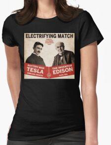 Edison vs Tesla Womens Fitted T-Shirt