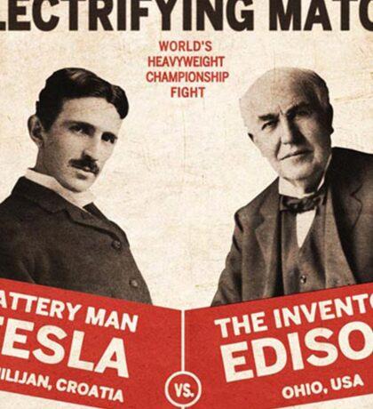 Edison vs Tesla Sticker