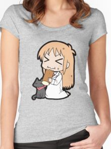 Hakase and Sakamoto Chibi Women's Fitted Scoop T-Shirt