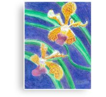 Orchid - Oil Pastel Canvas Print