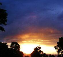 Sunset over Denver by Thomas Stevens