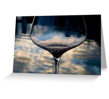 Glass & Water Greeting Card
