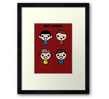 Red shirt of death Framed Print