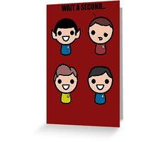 Red shirt of death Greeting Card