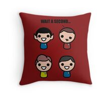 Red shirt of death Throw Pillow