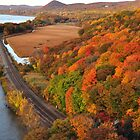 Fall Colors and Trains Through the Hills by April Anderson