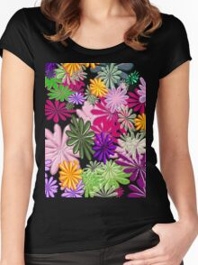 Floral Explosion Women's Fitted Scoop T-Shirt