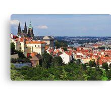 Prague City Sunny Vista Canvas Print