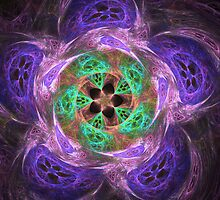 Movement in purple and green by CanDuCreations