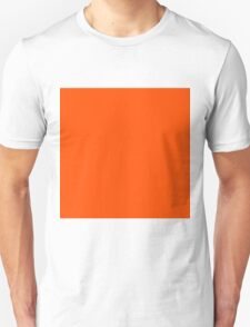 Beautiful Cushions/ Plain International Orange Unisex T-Shirt