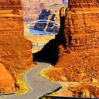 Road to the Colorado River Bridge by R. Mike Jacobson