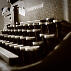 Writing Old School in Sepia by Melapaloosa