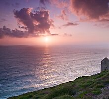 Wheal Coates Sunset, Cornwall by Emma Duncan