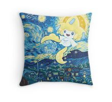Starry Jirachi Throw Pillow