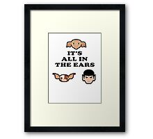 Bad ass ear club Framed Print