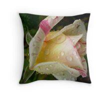 Cabana rosebud after rain Throw Pillow