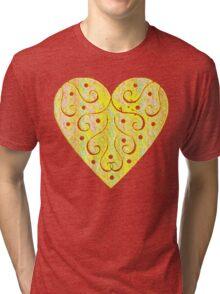 Textured Heart Tri-blend T-Shirt