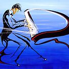 Pianist on the sea by Philip Gaida