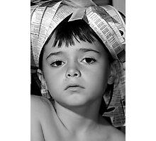 News paper girl Photographic Print
