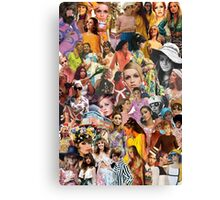 1960s Fashion Collage Canvas Print