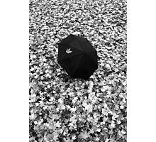Fallen Autumn Umbrella  Photographic Print