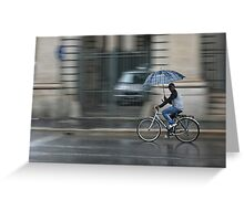 Cycling Italian Style Greeting Card