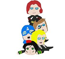 Dog Pile Avengers by Alexandria1996