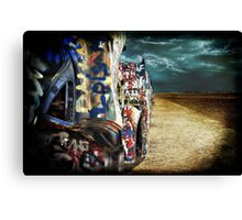 Doomsday on Cadillac Ranch Canvas Print