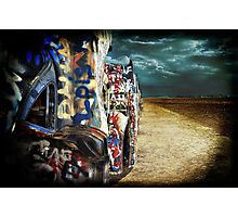 Doomsday on Cadillac Ranch Photographic Print