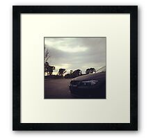 BMW Cloudy Image Framed Print
