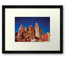 The New York, New York Hotel Framed Print