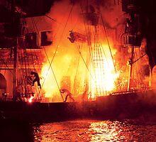 Explosion, Abandon ship by Mike  Savad