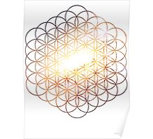 Galaxy of Fire | Flower of Life Poster