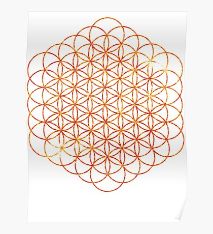 The Sun   Flower of Life Poster