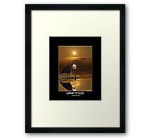 """""""Gratitude"""" Bald Eagle Framed Print"""