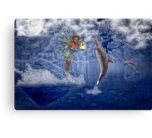 Guardian of the Dolphins Canvas Print