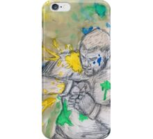 Green Painted Fight iPhone Case/Skin