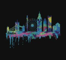 Inky London Skyline by LookOutBelow