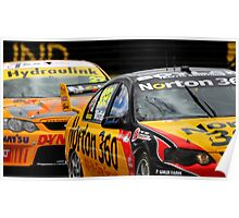 Up close and personnel - Konica V8's at Bathurst 2009 Poster