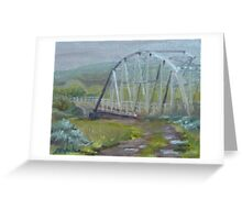 Drizzle at Warren - Warren bridge in June Greeting Card