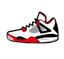 Air Jordan Retro 4 Photographic Print