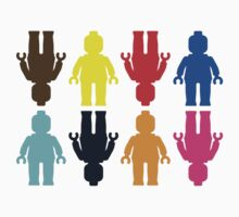 8 x Minifig Stickers  One Piece - Short Sleeve