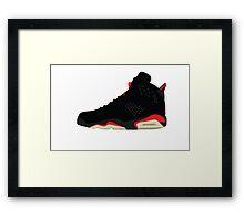 Air Jordan Retro 6 Framed Print