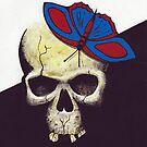 Butterfly on Skull by David  Postgate