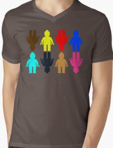 8 x Minifig Stickers  Mens V-Neck T-Shirt