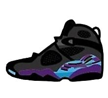 Air Jordan Retro 8 Photographic Print