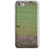 Bird danicing on wire iPhone Case/Skin