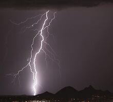 Lightning Strikes North Scottsdale by Bo Insogna