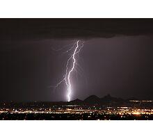Lightning Striking North Scottsdale Photographic Print