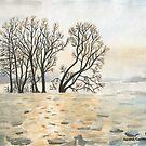Frozen River by Caroline  Lembke